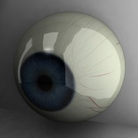 3d model of blue eye