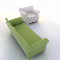3d bubble couch model