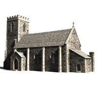 medieval church 3d 3ds