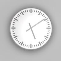 free c4d model simple clock 2