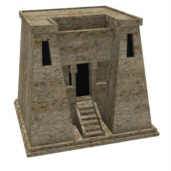 3D Ancient Egyptian Houses