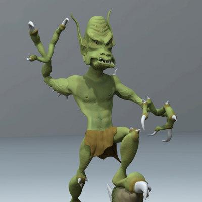 Goblin Figurine Sculpture