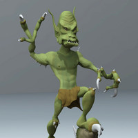 3d goblin sculpture model