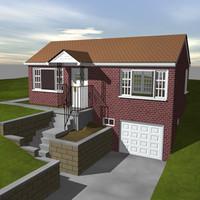 3d 1950 house