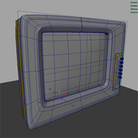 retro tv style 3d model