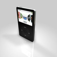 3d model of ipod classic black