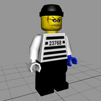 3d lego figure - model