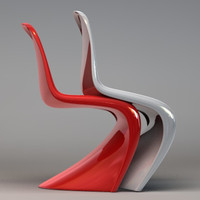 verner panton chair c4d