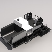 Low Poly PF-6110 Paving Equipment.MAX