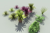 3d model of grass plants