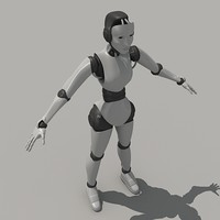 maya posed robeca female robot