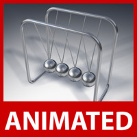 3d loop newtons cradle pendulum model