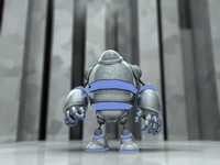 robot animation c4d