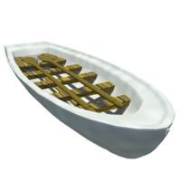 3d small row boat model