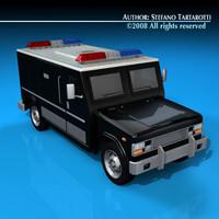 police armored van obj