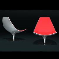 3d tacchini moon lounge chair model
