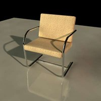 tubular brno chair 3d model