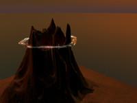 volcano 3d model