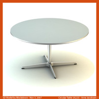 AJ Circular Table 90x90x47 A223
