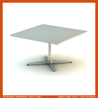 AJ Square Table 80x80x47 A231