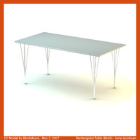 AJ Rectangular Table 160x80x72 B638