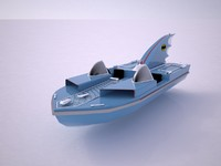 batman batboat 3d model