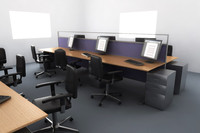 desk - office setup 3d model