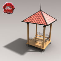 maya gazebo modelled