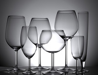 3d model wine glasses set