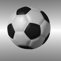 3d model of soccerball