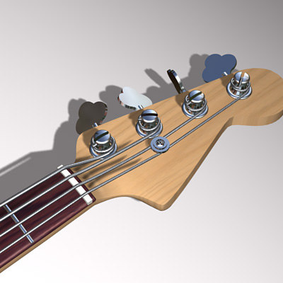 3d model electric bass fender - Electric Bass... by Formius Design