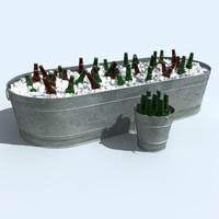 beer buckets 3d model