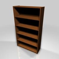 3d simple bookshelf model