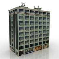 3ds max building block