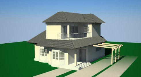 House simple 3d model Simple 3d modeling online