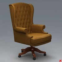 3d armchair swivel chair model