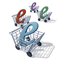 shopping cart (illustration style)