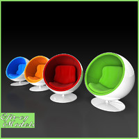 3d model eero aarnio ball chair