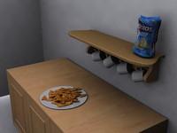 dwg kitchen scene