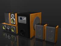 3d model speakers 5 1