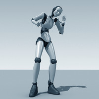 3dsmax rigged robeca robot fb