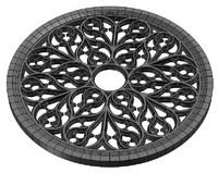3ds max rose window