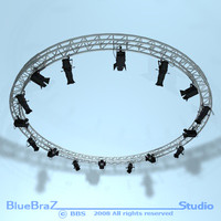 3d dxf truss stages light