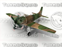 3d airplane fighter model