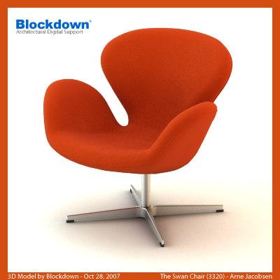 AJ Swan Chair 3320