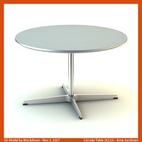 AJ Circular Table 75x75x47 A222