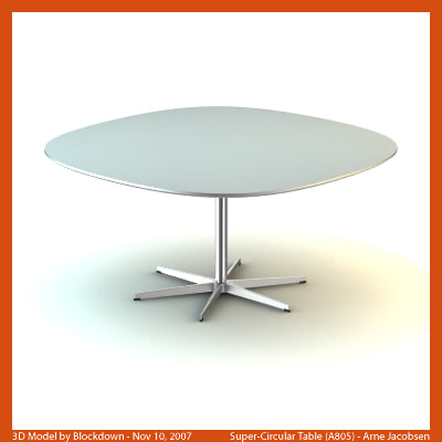 AJ Super-Circular Table 145x145x70 A805