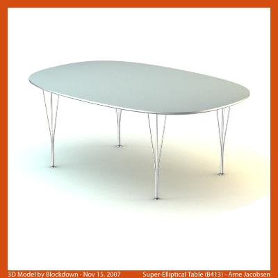 AJ Super-Elliptical Table 180x120x70 B413