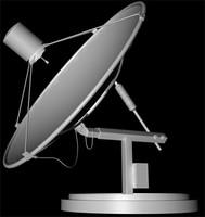 satellite aerial 3d model