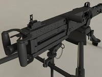3d model browning m2 machine gun